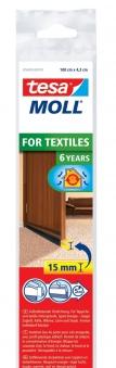 tesamoll® Standard Türdichtschiene für Textilböden braun 1m x 43mm Bild 1