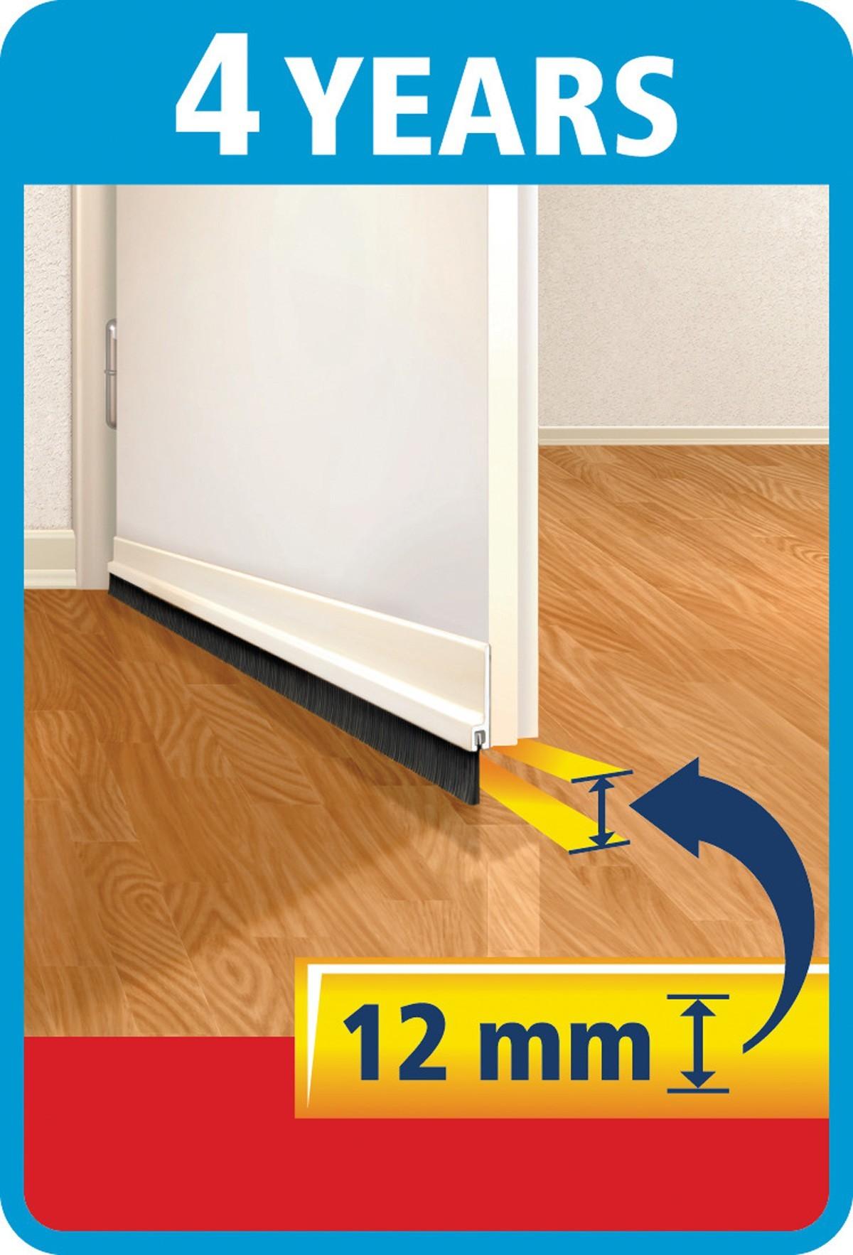 tesamoll® Standard Türdichtschiene für glatte Böden braun 1m x 37mm Bild 2