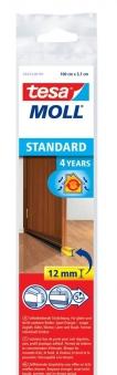 tesamoll® Standard Türdichtschiene für glatte Böden braun 1m x 37mm Bild 1