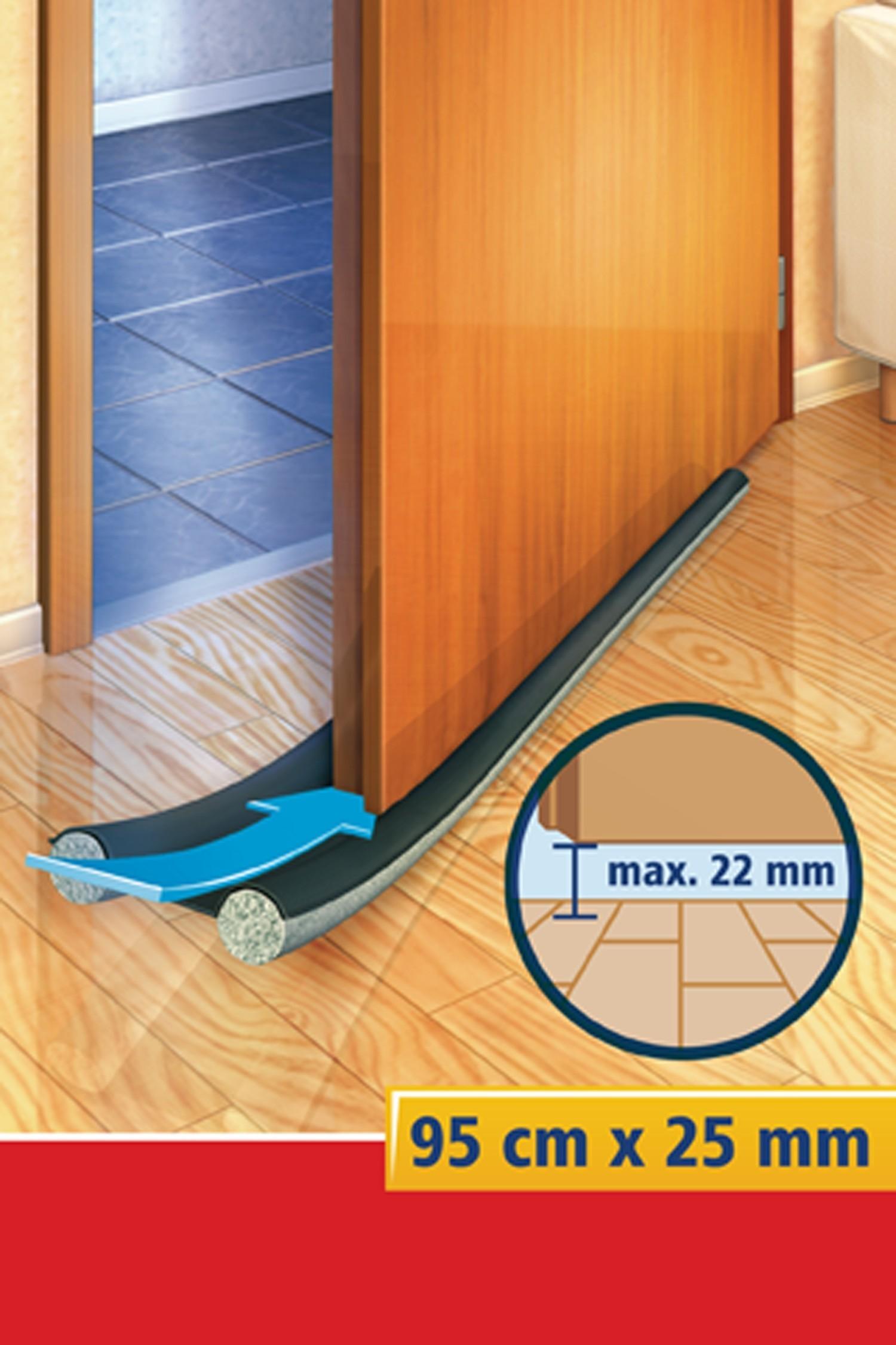 tesamoll® Türbodendoppeldichtung für glatte Böden anthr. 95cm x 25mm Bild 2