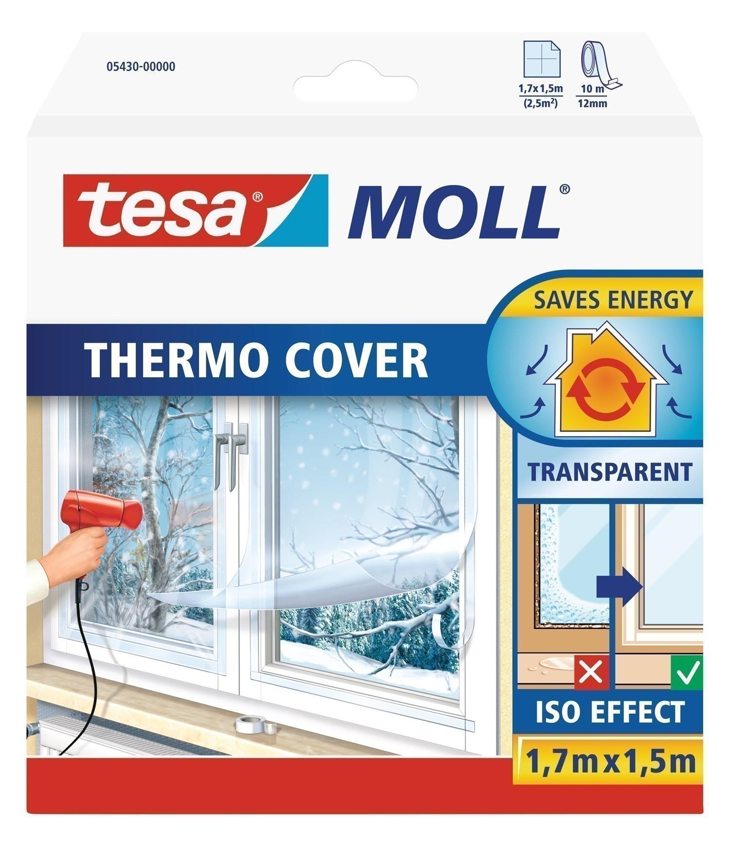 tesamoll® Thermo Cover Fensterisolierfolie 1,7 x 1,5 m Bild 1