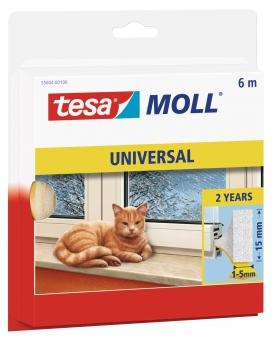 tesamoll® Universal Schaumstoffdichtung 15 mm x 6 m weiß Bild 1