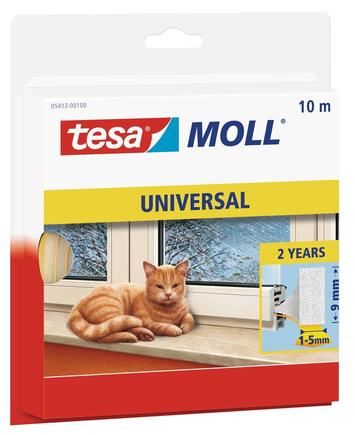 tesamoll® Universal Schaumstoffdichtung 9 mm x 10 m weiß Bild 1