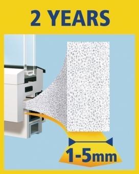 tesamoll® Universal Schaumstoffdichtung 9 mm x 10 m weiß Bild 2
