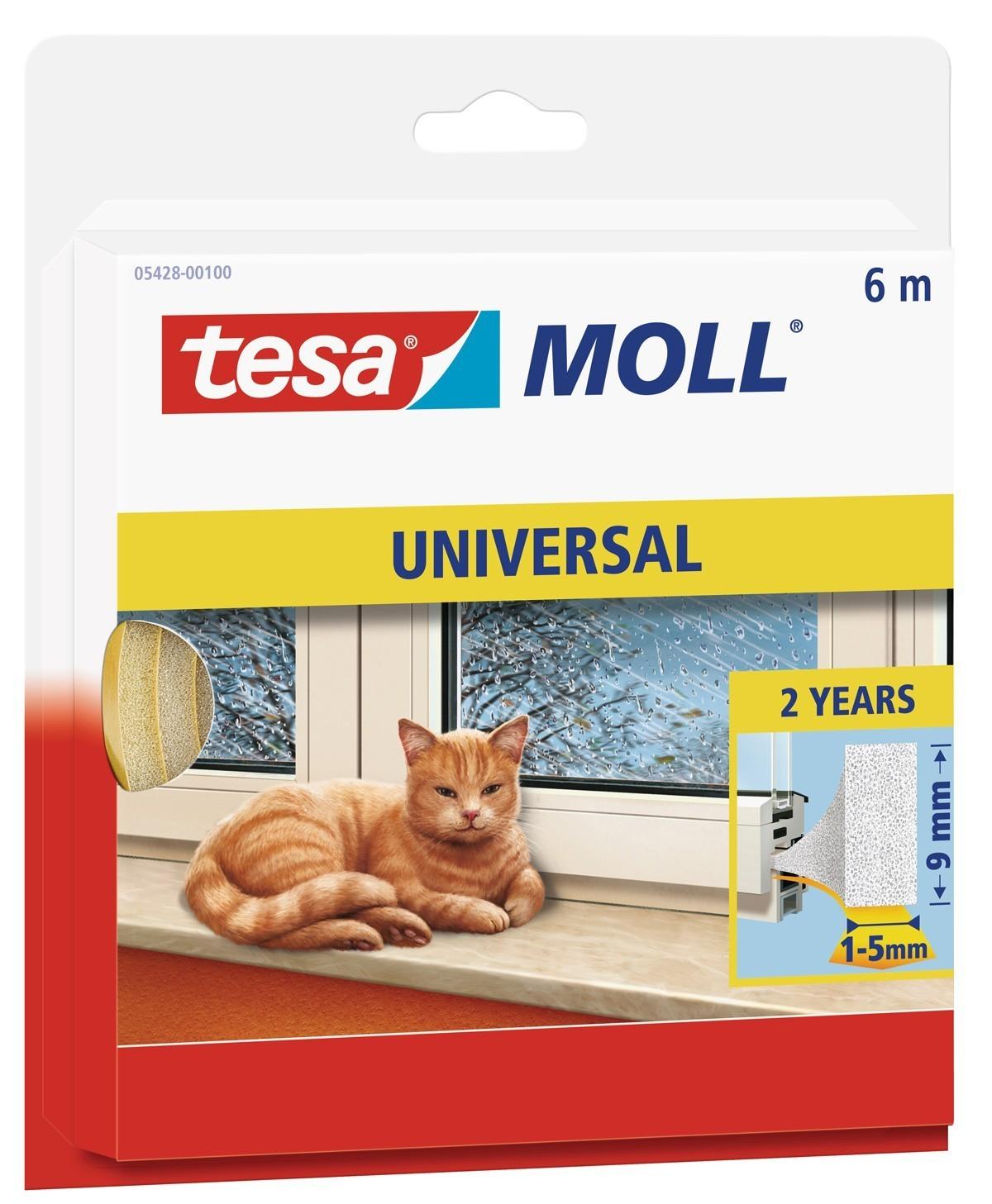 tesamoll® Universal Schaumstoffdichtung 9 mm x 6 m weiß Bild 1