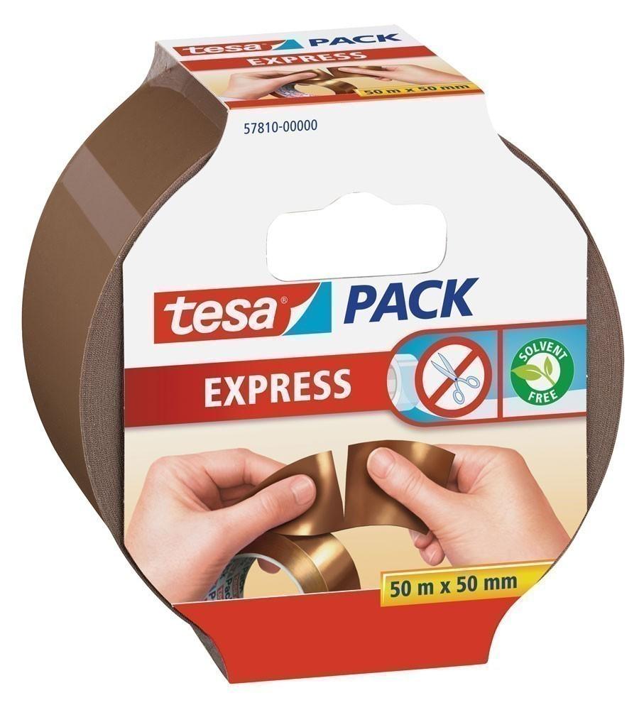 tesapack® Express Verpackungsklebeband 50 m x 50 mm braun Bild 1
