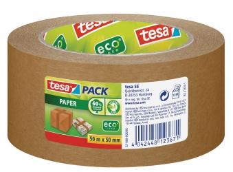 tesapack® Paper ecoLogo Verpackungsklebeband 50 m x  50 mm Bild 1