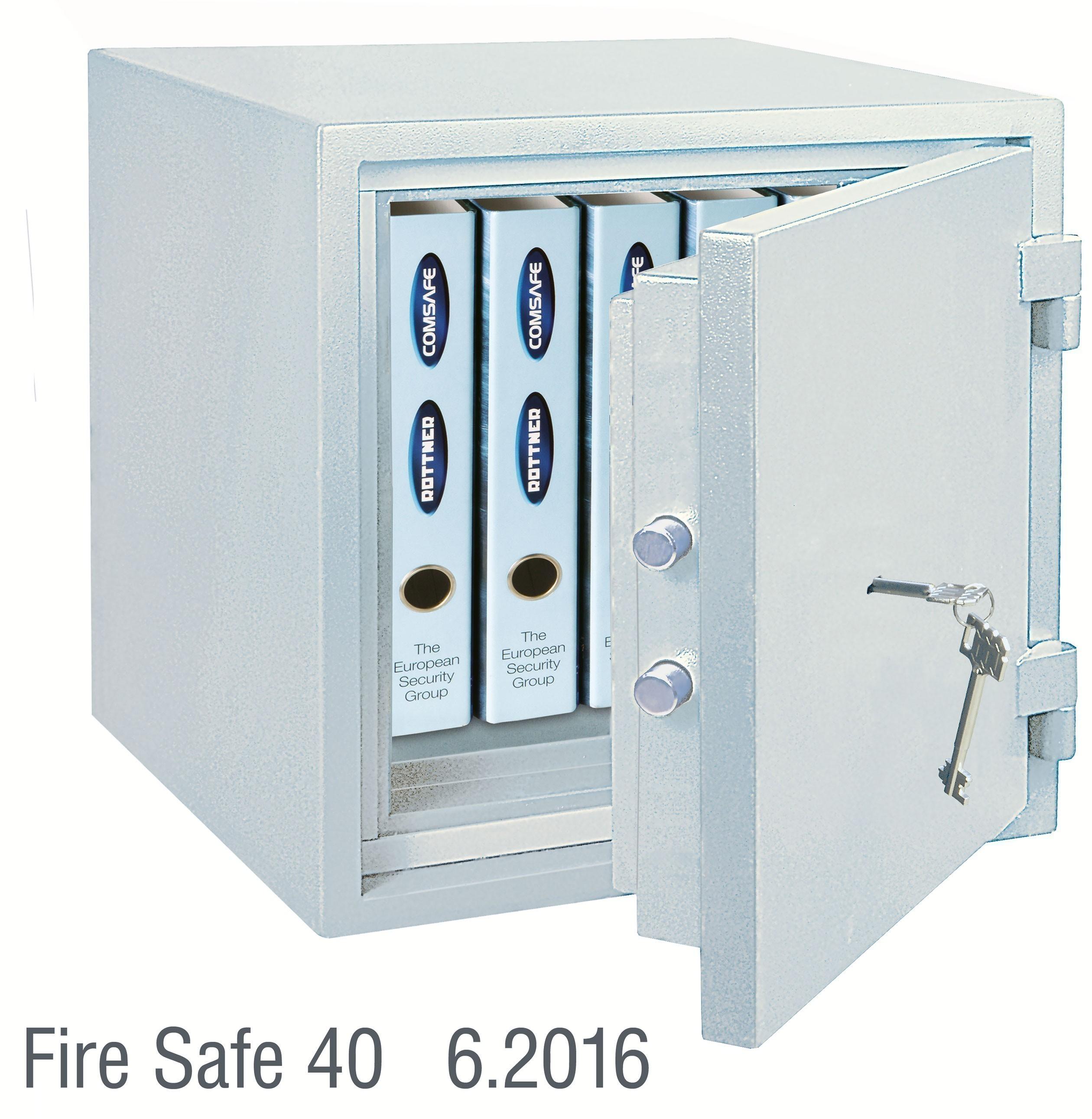 Rottner Dokumententresor feuersicher Fire Safe 40DB grau 460x440x440mm Bild 1