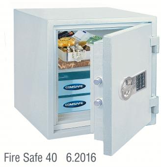 Rottner Dokumententresor feuersicher Fire Safe 40EL grau 460x440x440mm Bild 1
