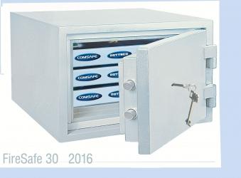 Rottner Dokumententresor feuersicher FireSafe 30DB grau 315x445x440mm Bild 1