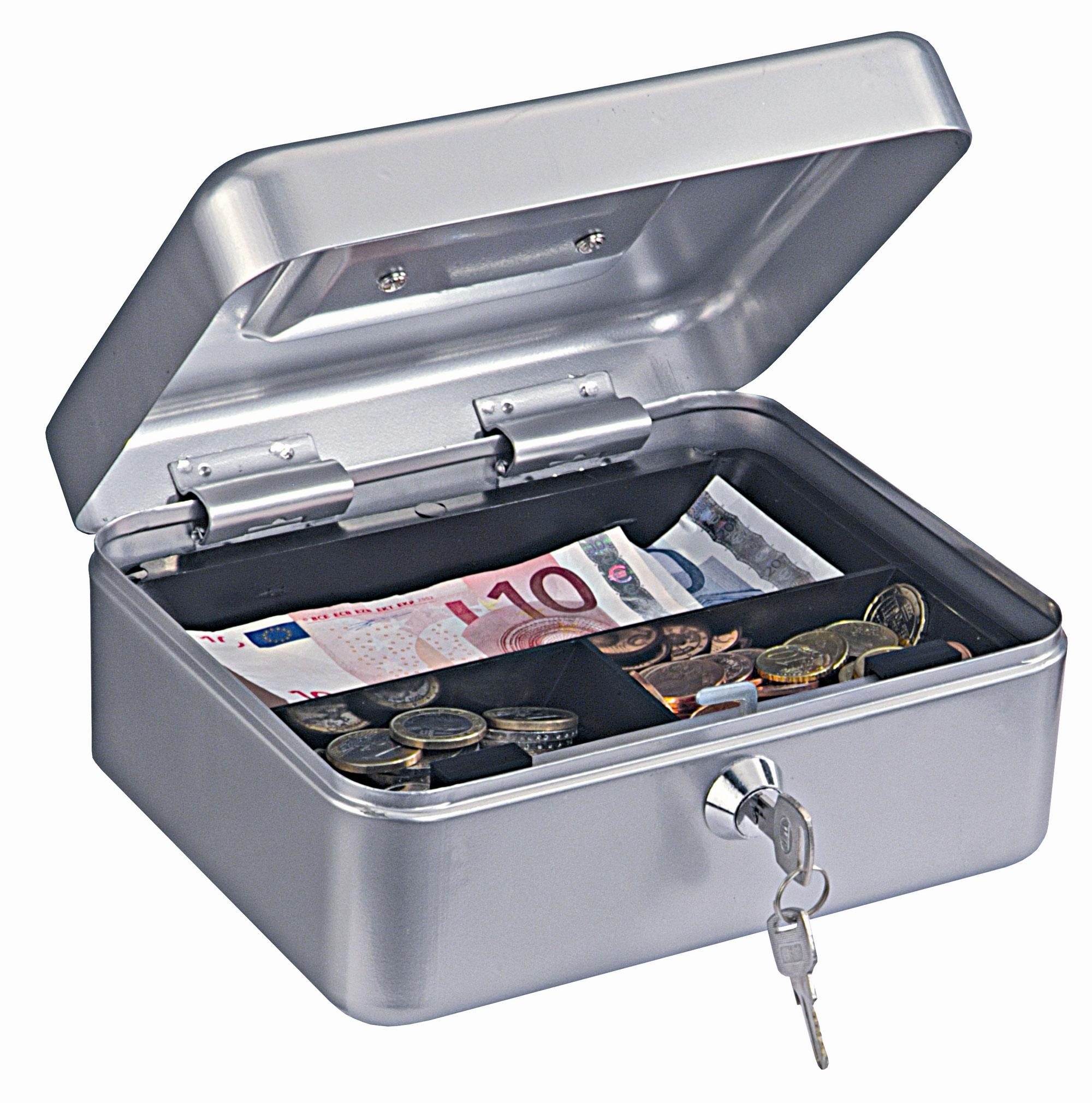 Rottner Geldkassette Homestar Cash 2 silber Bild 1