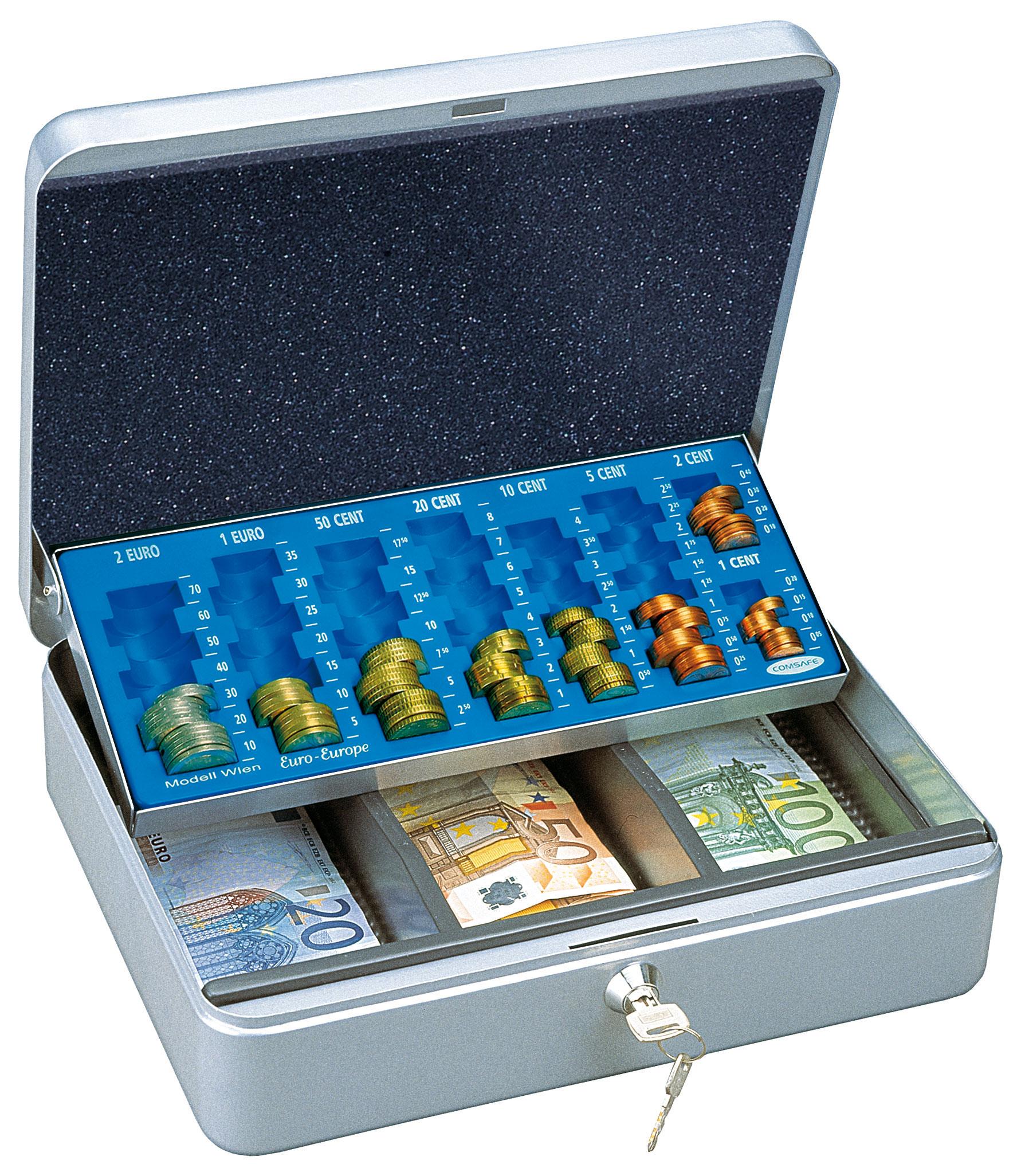 Rottner Geldkassette Homestar Euro 1 silber Bild 1