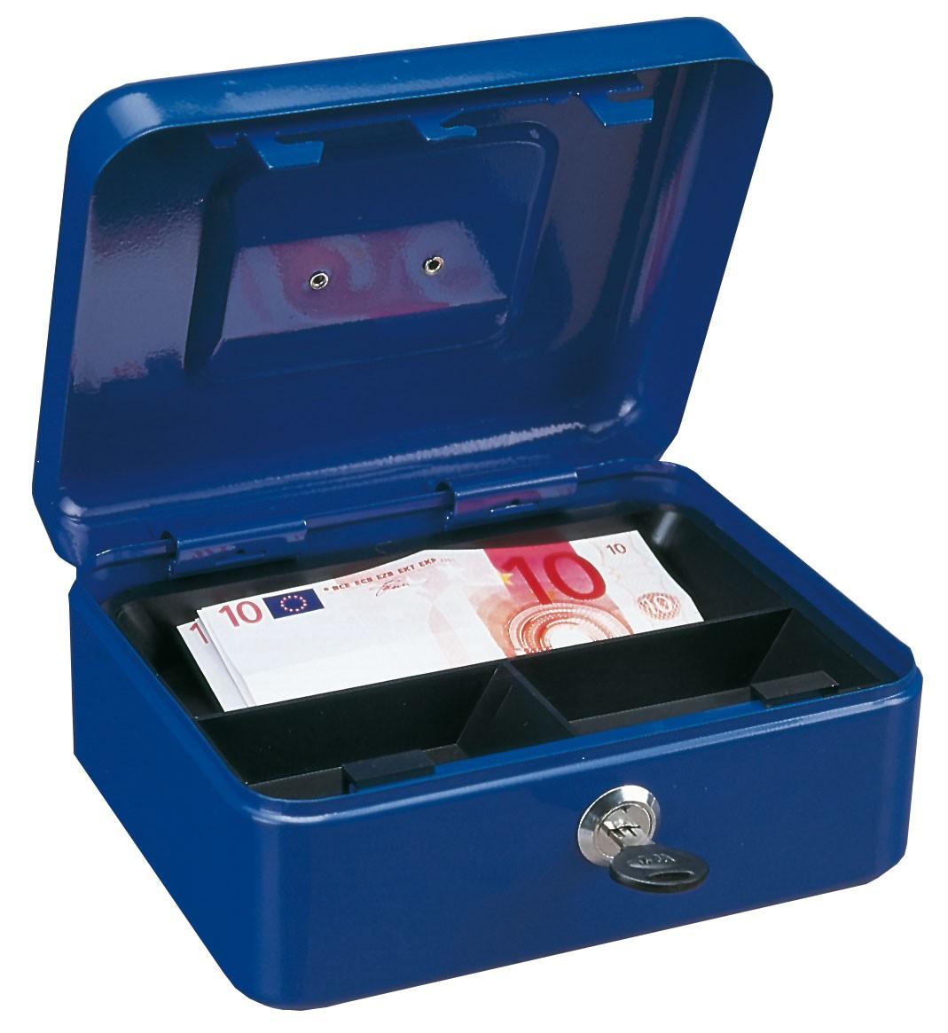 Rottner Geldkassette Traun 2 blau 90x200x165mm Bild 1