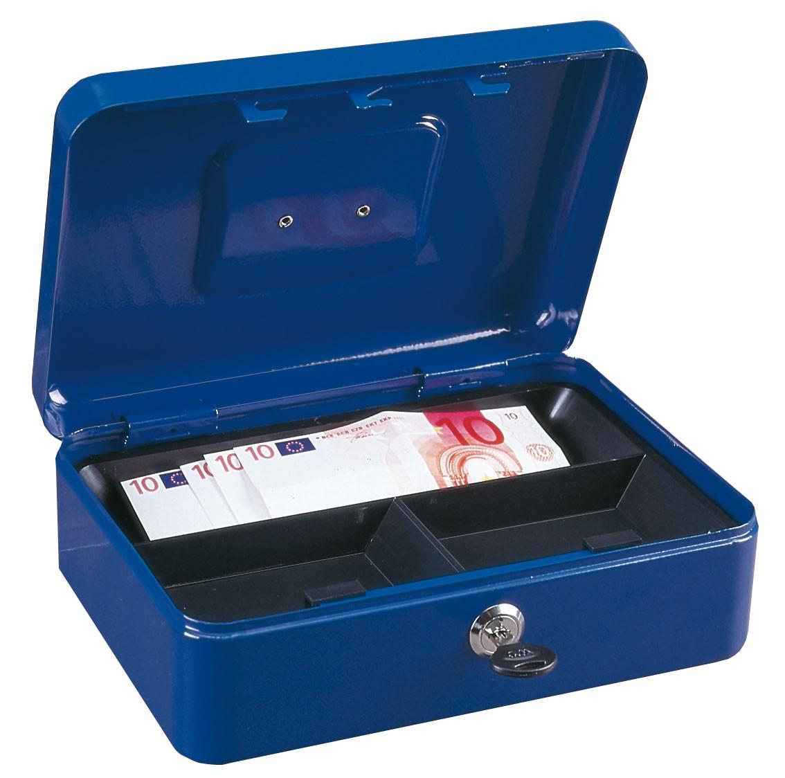 Rottner Geldkassette Traun 3 blau 90x250x185mm Bild 1