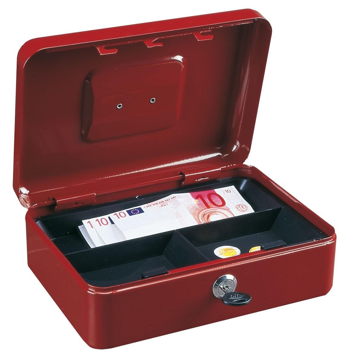 Rottner Geldkassette Traun 3 rot 90x250x185mm Bild 1