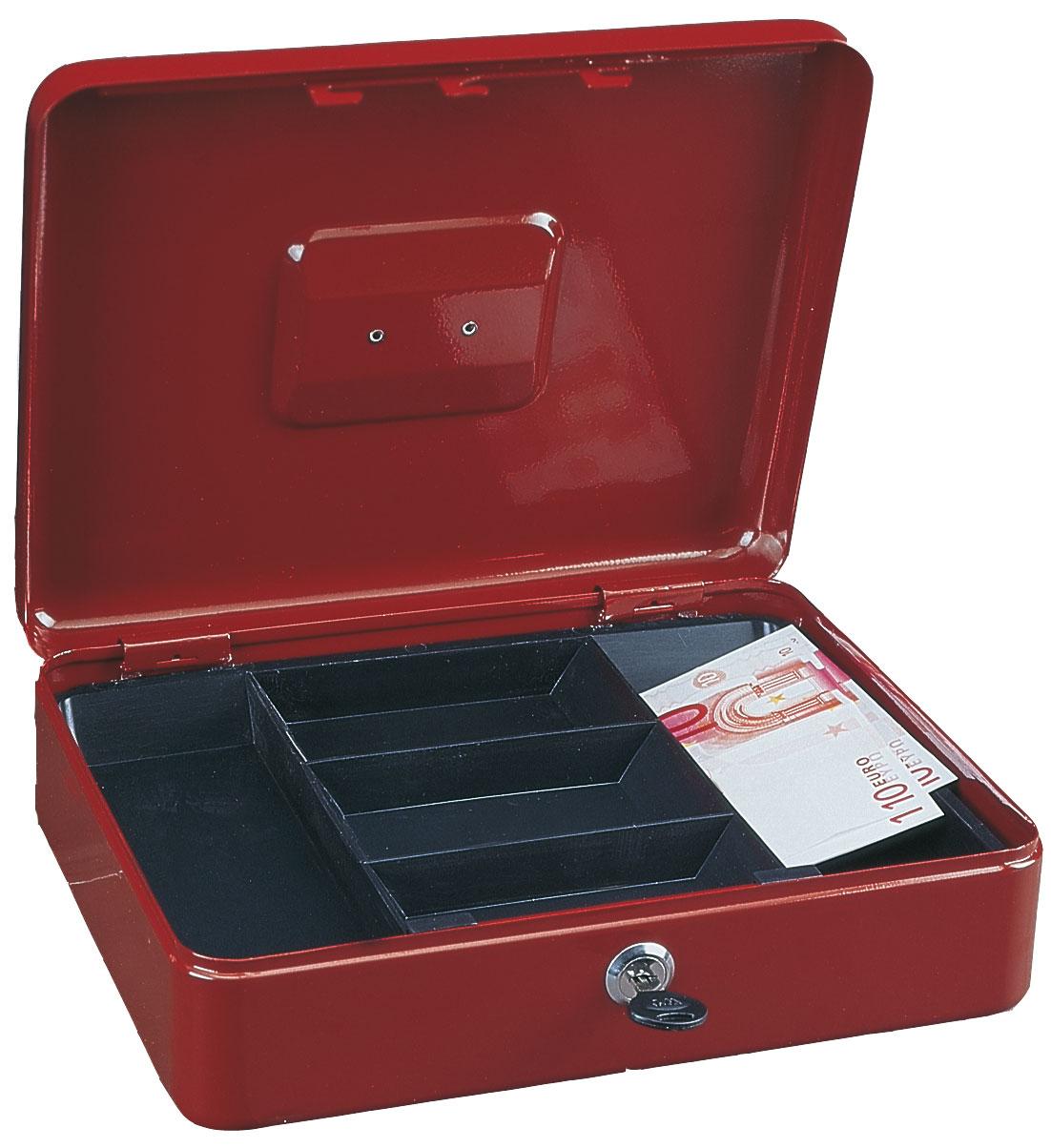 Rottner Geldkassette Traun 4 rot 90x300x245mm Bild 1