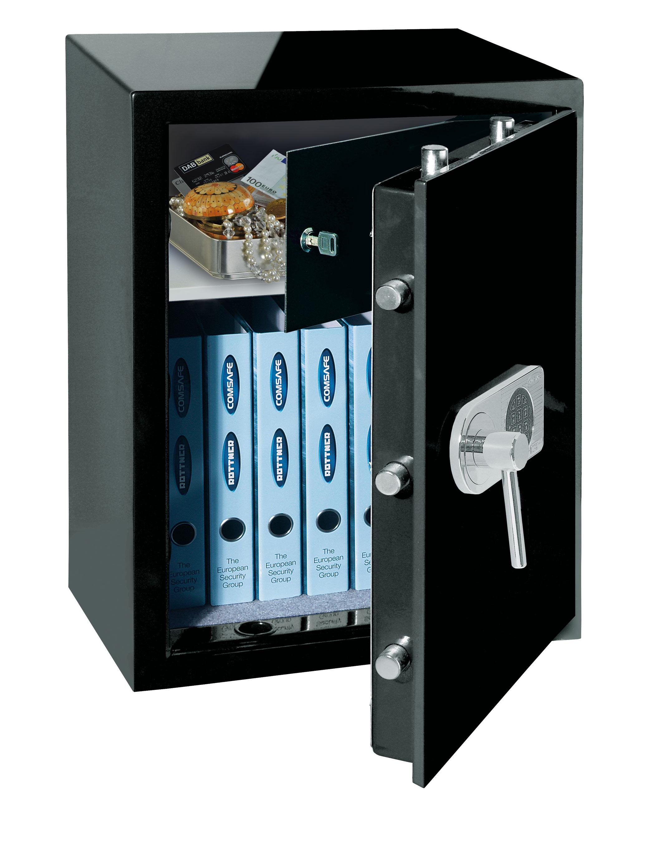 Rottner Tresor / Wertschutzschrank Design schwarz 66x49x41cm EN 1 Bild 1