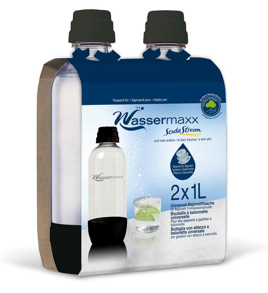 sodastream ersatzflasche wassermaxx pet 1 liter 2 st ck bei. Black Bedroom Furniture Sets. Home Design Ideas