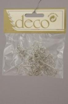 Kaemingk Weihnachtskugel - Aufhänger 50 Stück Silber