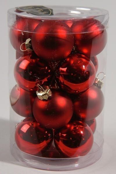 Christbaumschmuck Kaemingk Mini Weihnachtskugeln Glas Ø35mm rot 16S Bild 1