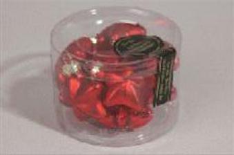 Christbaumschmuck Kaemingk Weihnachtsstern Glas Sterne rot 40mm 12S Bild 1