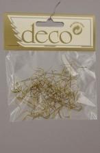 Kaemingk Weihnachtskugel - Aufhänger 50 Stück Gold Bild 1