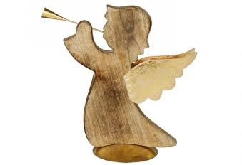 Weihnachtsdeko Holz Engel Gloria 30 cm Bild 1