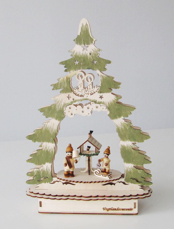 Weihnachtsdeko Neuheiten.Weihnachtsdeko Weihnachtsbaum Laserholz Natur Grün