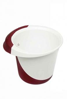 Schüssel / Rührschüssel Keeeper deluxe rot bordeaux/weiß 1,5Liter Bild 1