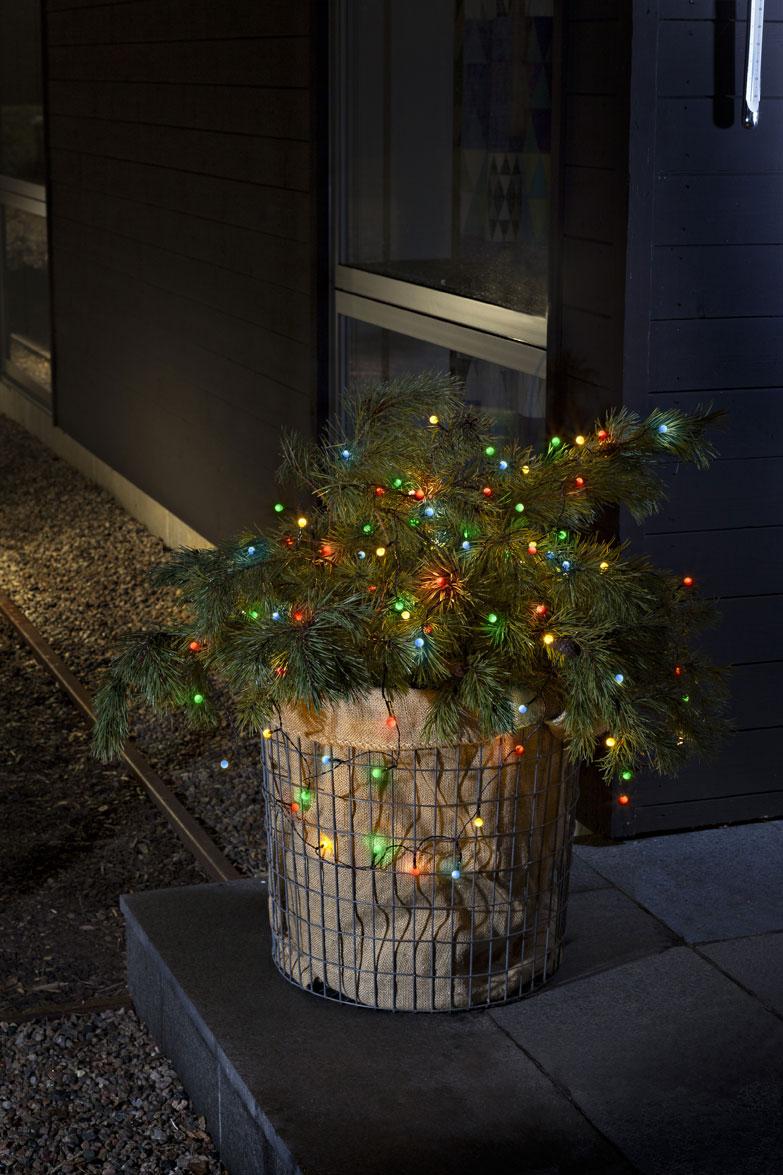 Konstsmide LED Globelichterkette 40LEDs batteriebetr. bunt Bild 2