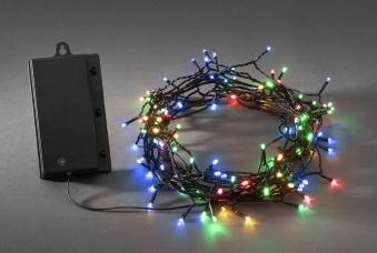Konstsmide LED Lichterkette 120LEDs batteriebetr. bunt/schwarz Bild 1