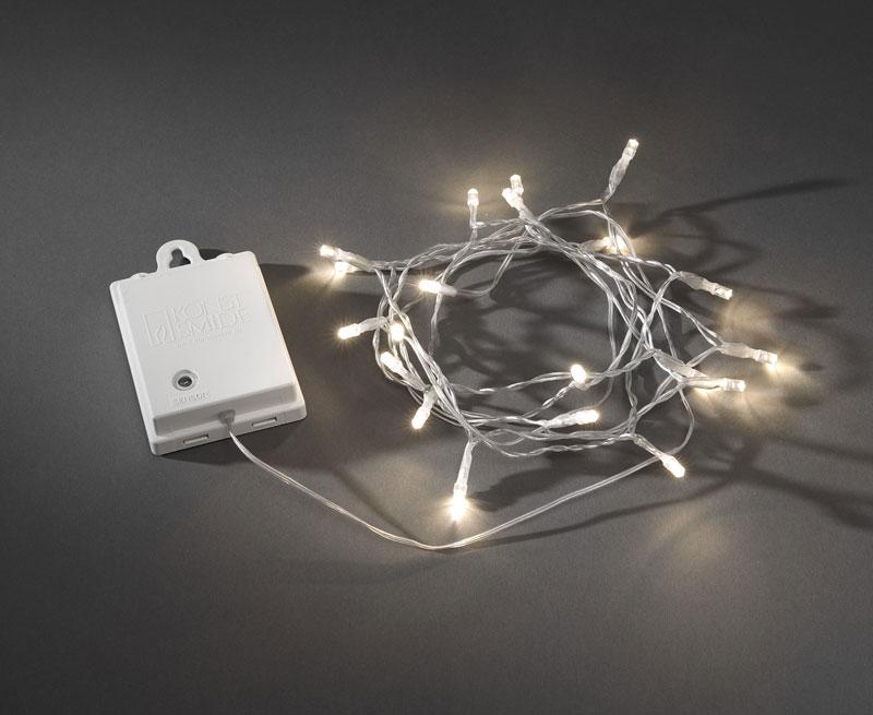 Weihnachtsbeleuchtung Konstsmide LED Lichterkette 20LED außen weiß Bild 1