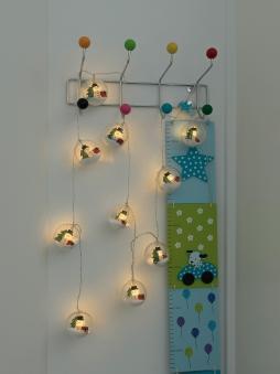 LED Lichertkette Konstsmide Schneemann 10 LED für innen batteriebetr. Bild 2