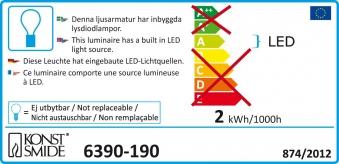 LED Lichterkette Konstsmide silber Diamant Lametta 90 LED 12V Innen Bild 2