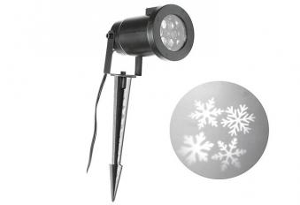 Projektor LED Schneeflocken warm-weiß 7 x 7 x 30 cm Bild 1