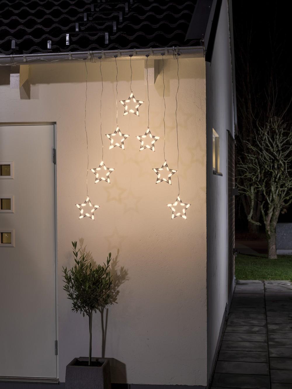 Weihnachtsbeleuchtung Aussen Ersatzbirnen.Weihnachtsbeleuchtung Konstsmide Außen Lichtervorhang Led 7 Sterne