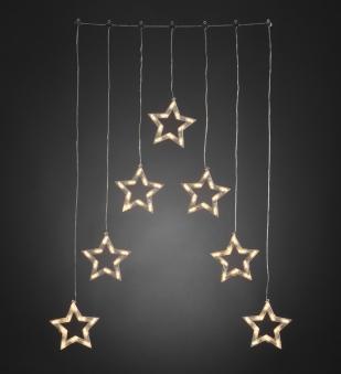 Weihnachtsbeleuchtung Konstsmide Außen Lichtervorhang LED 7 Sterne Bild 1