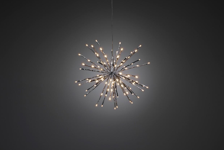 Weihnachtsbeleuchtung Konstsmide LEDSternlichterball außen silber 40cm Bild 1