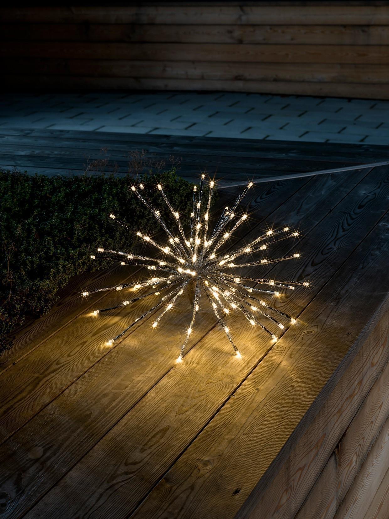 Weihnachtsbeleuchtung Konstsmide LEDSternlichterball außen silber 40cm Bild 2