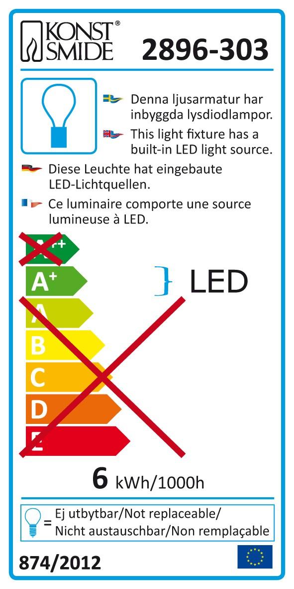 Weihnachtsbeleuchtung Konstsmide LEDSternlichterball außen silber 40cm Bild 3