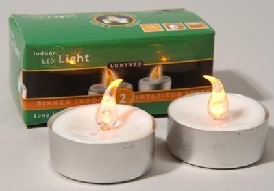 Kaemingk LED Teelichter Batterie weiß 2er Pack Bild 1