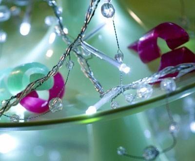 LED Lichterkette Perlen Konstsmide 32 LED innen kalt-weiß Bild 1