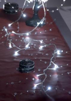 LED Lichterkette Perlen Konstsmide 32 LED innen kalt-weiß Bild 3