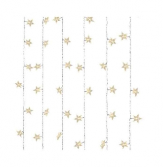 LED Lichterkette / Sternen Vorhang 64 LEDs 120x100cm warmeiss Bild 1