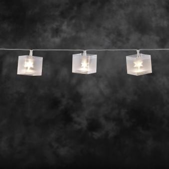 Lichterkette Konstsmide 10 LED Würfel mit Stern Effekt Bild 1
