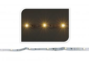 Weihnachtsbeleuchtung LED Lichtleiste 30 LED weiß 1m Batteriebetrieb Bild 1