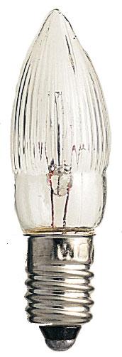 Ersatzbirnchen / Riffelkerze 14-55V 0,3W weiß 3Stück Konstsmide Bild 1