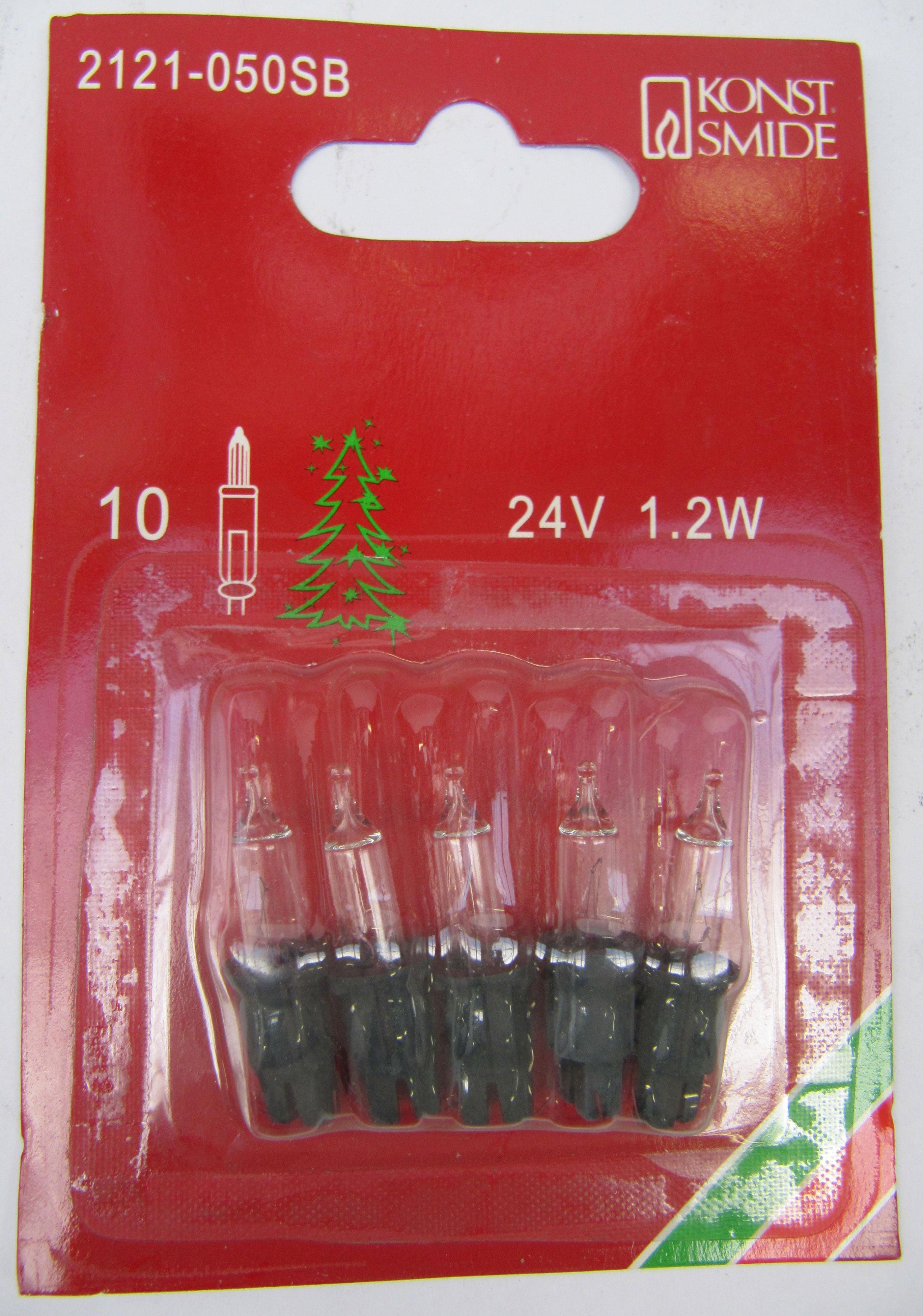 Ersatzbirnen für 10er Lichterketten 24V 1,2W klar/grün 5St. Konstsmide Bild 1