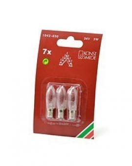 Ersatzbirnen für Leuchter und Lichterketten mit 7 Kerzen 34V 3W 3Stück Bild 2