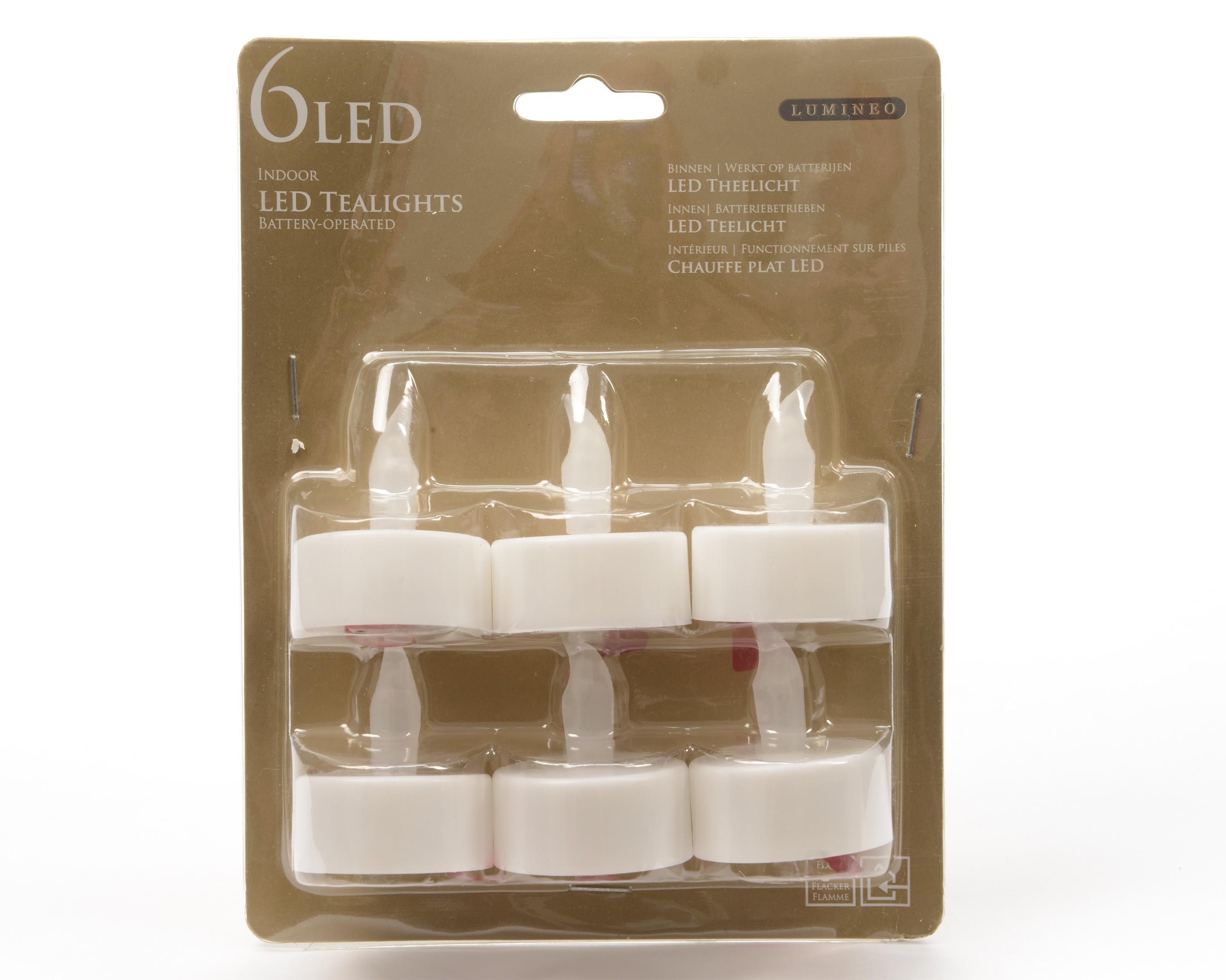 Kaemingk LED Teelichter Batterie weiß 6er Pack Bild 1